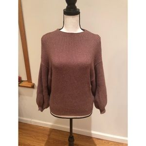 Forever 21 Contemporary Sweater with Puff Sleeves